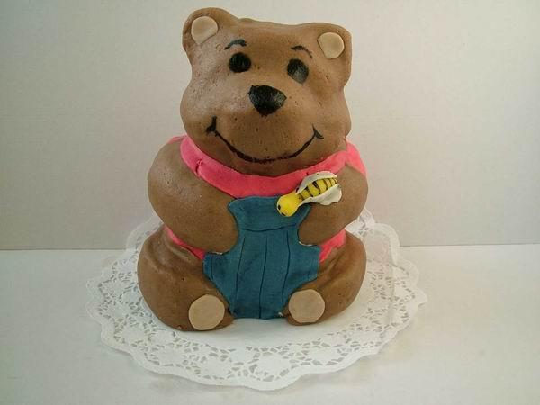 Dort modelovaný medvídek