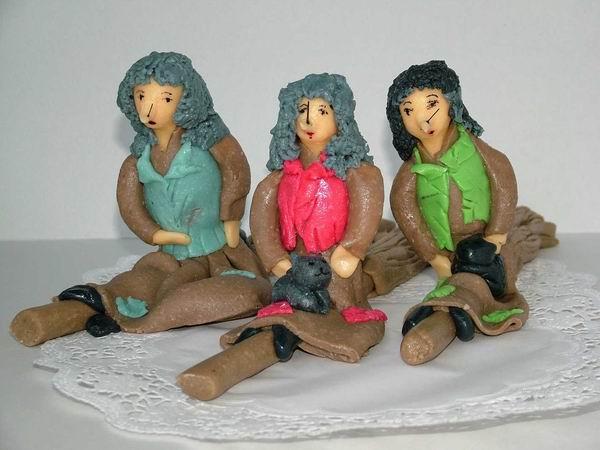 Modelované postavičky 3 čarodejnice